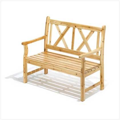 Pine Wood Outdoor Bench #36699