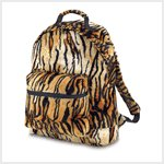 Tiger Print Plush Backpack #38725