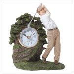 Golfer Statue Clock #31803