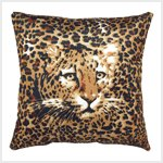 Ghost Leopard Accent Pillow #38769