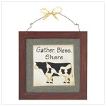 Country Blessings Plaque #39183