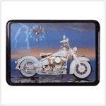 White Motorcycle Clock #29489