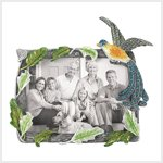 Pewter Jeweled Peacock Photo Frame #39034