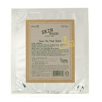 SKINFOOD: Snow Tea Mask Sheet