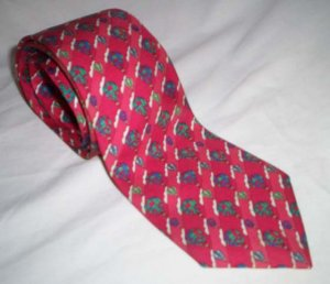 HERMES Necktie * Whimsical Hot Air Balloons * Collector's Item! * Free Shipping