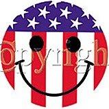 Patriotic/4th july Smiley (Adult)