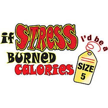 If Stress Burned Calories... Funny Tshirt. T shirt