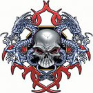Skull + Dragons Printed Tshirt. T shirt