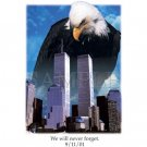 9/11 September 11 Twin Towers Commemerative Tshirt. T shirt sizes 4X Long