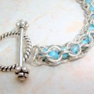 Sterling and Turquoise Bead Bracelet