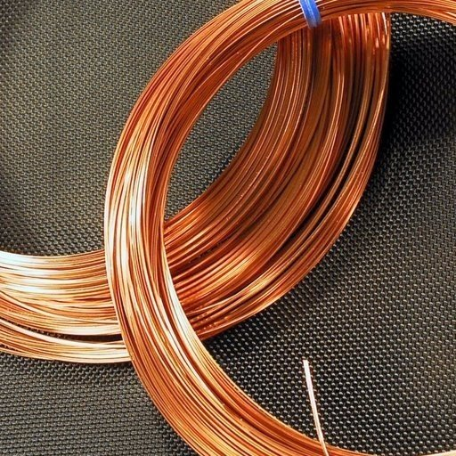 Square Copper Wire - 22 Gauge - 50 Feet