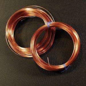 1/2 Round Copper Jewelry Wire - 18 Gauge - 50 feet -Hard to Find