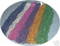 LOT 72 6 COLORS ASSORTED MARDI GRA GRAS BEADS  NECKLACES
