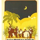 NEW ORLEANS JAZZ FESTIVAL POSTER POST CARD 1977 NEW