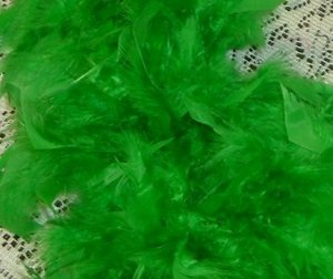 GREEN FEATHER BOA 6FT 6 FT MASQUERADE DRESS UP NEW