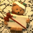 HOLIDAY WISHES PACKAGE TOPPER TEDDY BEAR AVON NEW