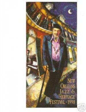 NEW ORLEANS JAZZ FESTIVAL POSTER CARD 1998 NEW DR JOHN