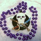 PIRATE SKULL MUSKET MARDI GRAS BEADS NEW PARTY FAVORS