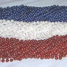 LOT 144 RED WHITE BLUE MARDI GRAS BEADS MEMORIAL DAY