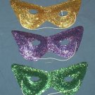 12 GLITTER CAT EYE MASKS MARDI GRAS MASQUERADE PARTY