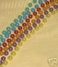 PEARL MARDI GRAS BEADS NECKLACES PARTY XLG XLONG ASST