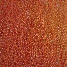 12 Orange Round Mardi Gras Beads Necklaces Party Favors 1 dozen Lot