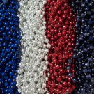 48 Red Silver Blue Mardi Gras Beads Patriots Giants Superbowl Tailgate Party