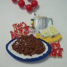 Red Beans And Rice Beer Necklace Mardi Gras Beads Bead