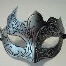 Black Gray Silver Venetian Mask Masquerade Mardi Gras Free Shipping