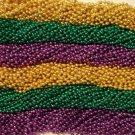 "600 Metallic  33"" Asst Colors Mardi Gras Beads Free Shipping Purple Green Gold"