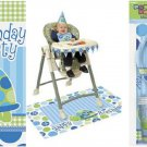 1st Birthday Turtle Blue Party Set Napkins Plates Invites Cups TC HighChair kit