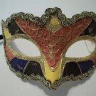 Pink Black Small Venetian Mask Masquerade Mardi Gras