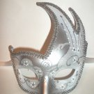 Silver White Wedding Masquerade Swan Flame Mask Mardi Gras Ball Dance Prom