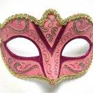 Pink Silver Gold Small Child Ornate Masquerade Mask