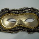 Gold Lace Trim Mardi Gras Mask Masquerade Ball Party
