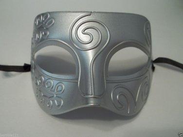 Silver Gray Roman Greek Men Venetian Mardi Gras Party Masquerade Mask