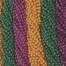 72 Purple Green Gold Mardi Gras Gra Beads Necklaces Party Favors 6 Dozen Lot