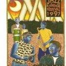 1997 New Orleans Jazz Festival Poster Post Card Neville