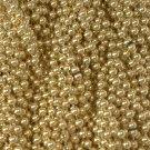 12 Gold Mardi Gras Beads Necklaces Party Favors Metallic 1 Dozen Lot