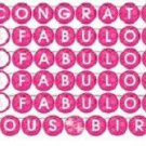 Fabulous Pink Cocktail Drink Birthday Party Supplies Personalized Ribbon Banner