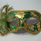 Green Gold Lily Flower Mardi Gras Masquerade Value Mask