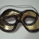 Gold Black Lace Cat Eye Mask Masquerade Party Mardi Gras Halloween