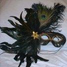 Black Feather Masquerade Ball Mardi Gras Mask