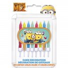 Despicable Me 2 Minions Party Supplies Cake Topper 8 candles Decoration Holder