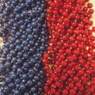 Blue Red Patriots Mardi Gras Beads Football Tailgate Party Favors 24 48 72 144