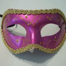 Purple Gold Mardi Gras Masquerade Party Value Carnival Mask