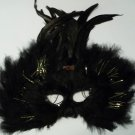 Black Tall Feather Mardi Gras Masquerade Ball Prom Mask