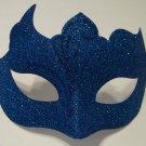 Royal Blue Solid Glitter Unique Venetian Masquerade Mardi Gras Mask Free Ship