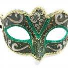 Green Purple Silver Gold Small Child Ornate Masquerade Mask