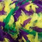 "Purple Green Yellow Feather Boa 72"" 6 Ft Mardi Gras Colors Chandelle 60 GM"
